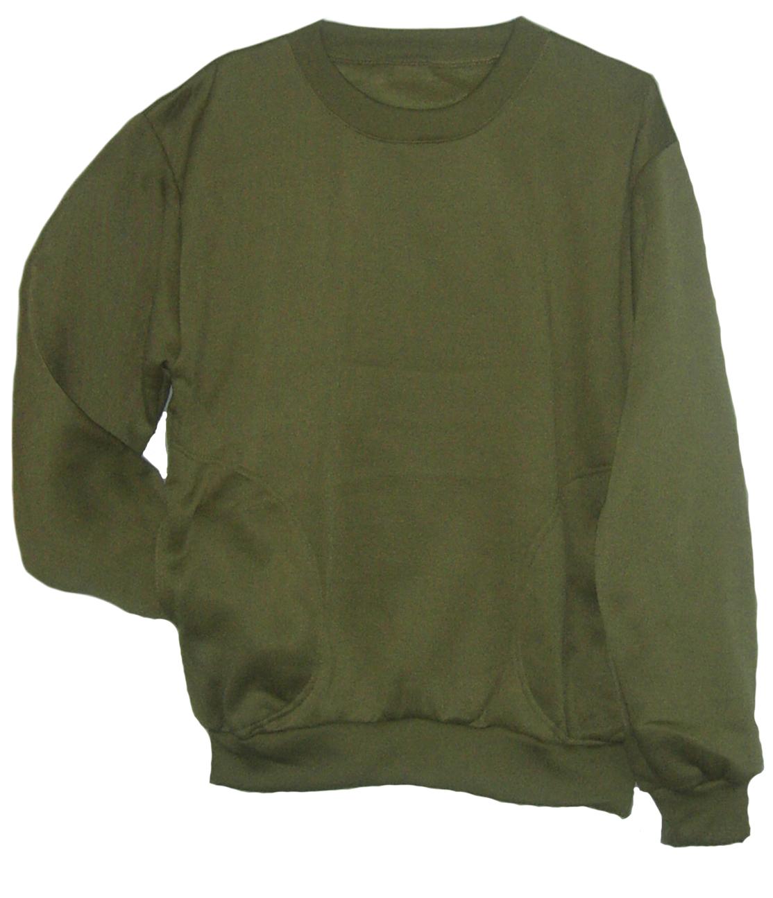 เสื้อคอกลม กันหนาว สีเขียวอมเหลือง