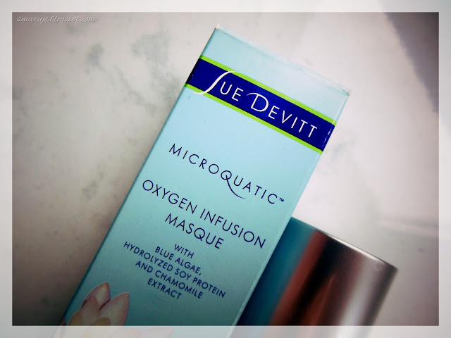 Czysta radość: Sue Devitt – Microquatic –Oxygen Infusion Masque