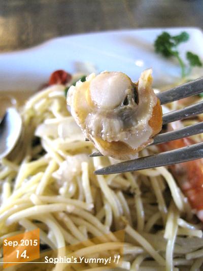白酒海鮮義大利麵-貝類