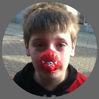 comic relief red nose wearing
