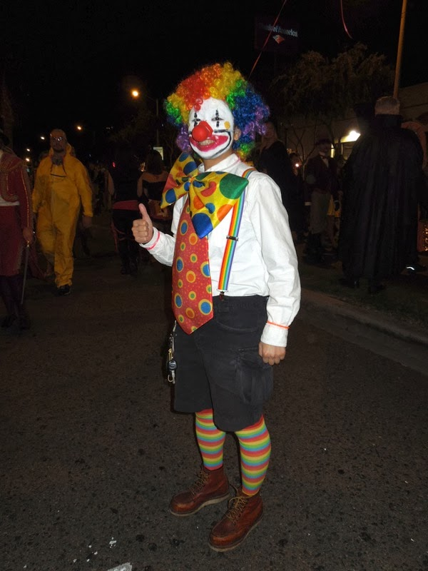 Clown costume West Hollywood Halloween 2013