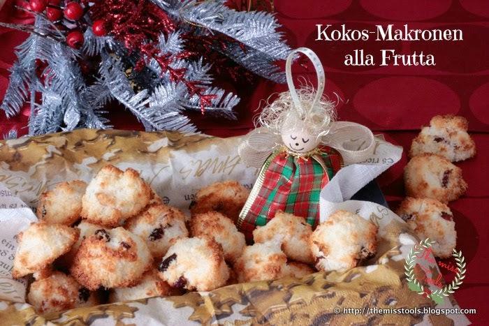 Kokos-Makronen con frutta e miele