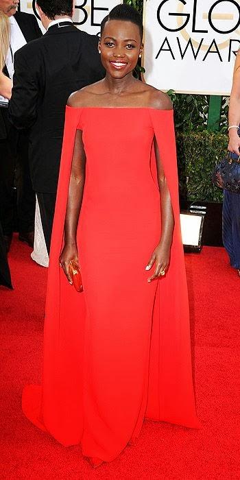 Lupita Nyong'o, Golden Globes, fashion, red carpet, awards show