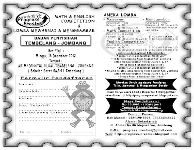 Progress Prestasi | Brosur Math & English Competition & Lomba Mewarnai ...