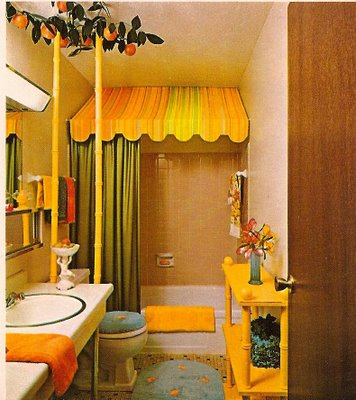 Gold Colour Kitschy Bathroom Design Ideas