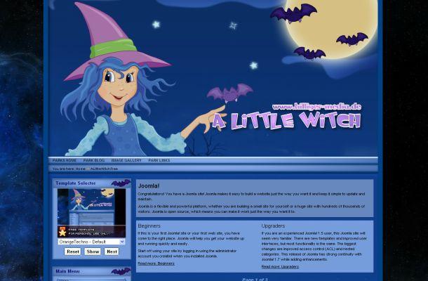 Free Blue Halloween Vector Joomla Theme Template