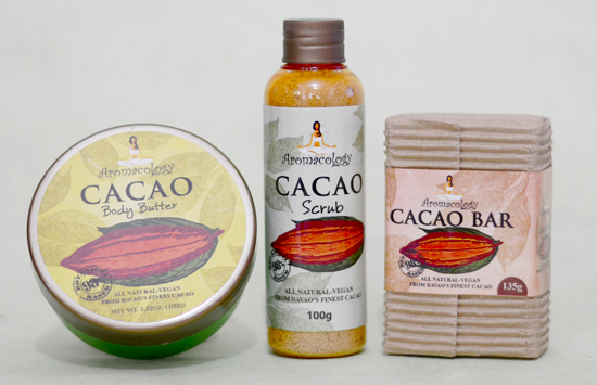 AROMACOLOGY CACAO BAR and CACAO SCRUB PRODUCT REVIEW