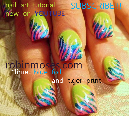 rihanna tiger print nails. and animal printquot; nail art
