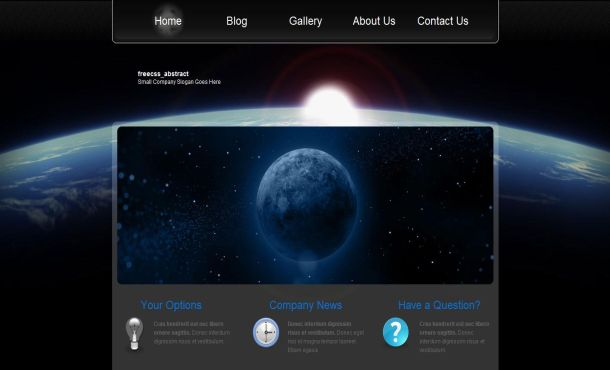 Free Jquery Moon Blue Black CSS Template