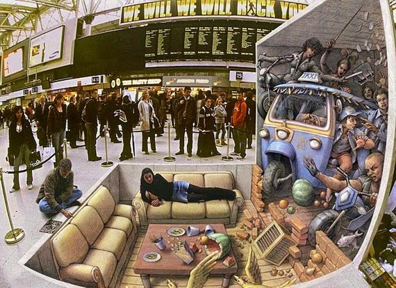 WW: Lukisan 3D Memukau Mata Pengunjung! Hebat!, 3d art, lukisan cantik