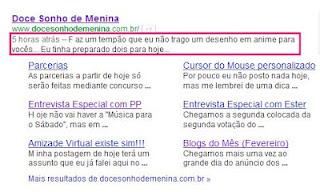 Descrição Google do DSM