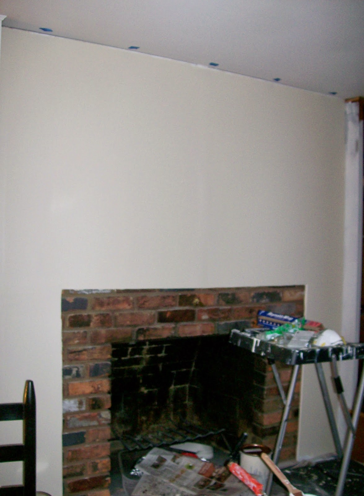 blue ribbon kitchen fireplace makeover the making of a mantel