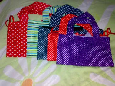 bolsa feita de toalha