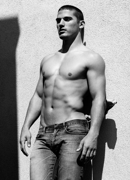 male model Kerry Degman shirtless and sexy