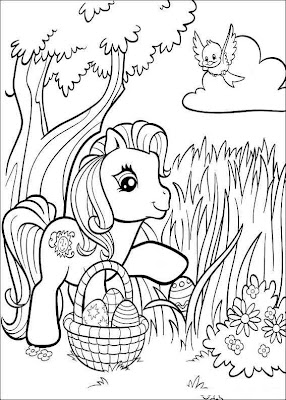 My Little Pony Easter Coloring Page