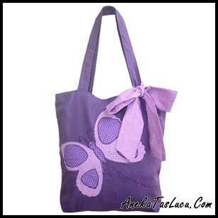 Tas Heejou Bags Caterpillar ungu