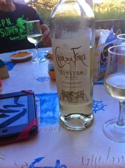 White Banyuls, a local delicacy wine