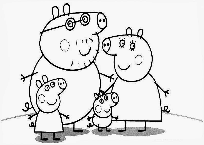 Disegni da colorare peppa pig famiglia Coloring drawings for kids