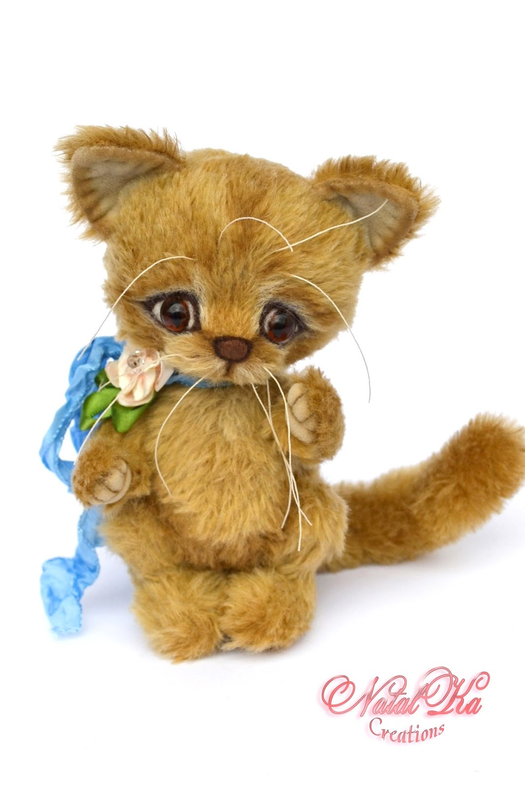 Авторский котенок тедди, кот тедди, кошка, artist teddy cat, artist kitten, teddy kitten jounted, ooak, Künstlerkatze, Teddy Kater, Unikat, handmade teddies by NatalKa Creations