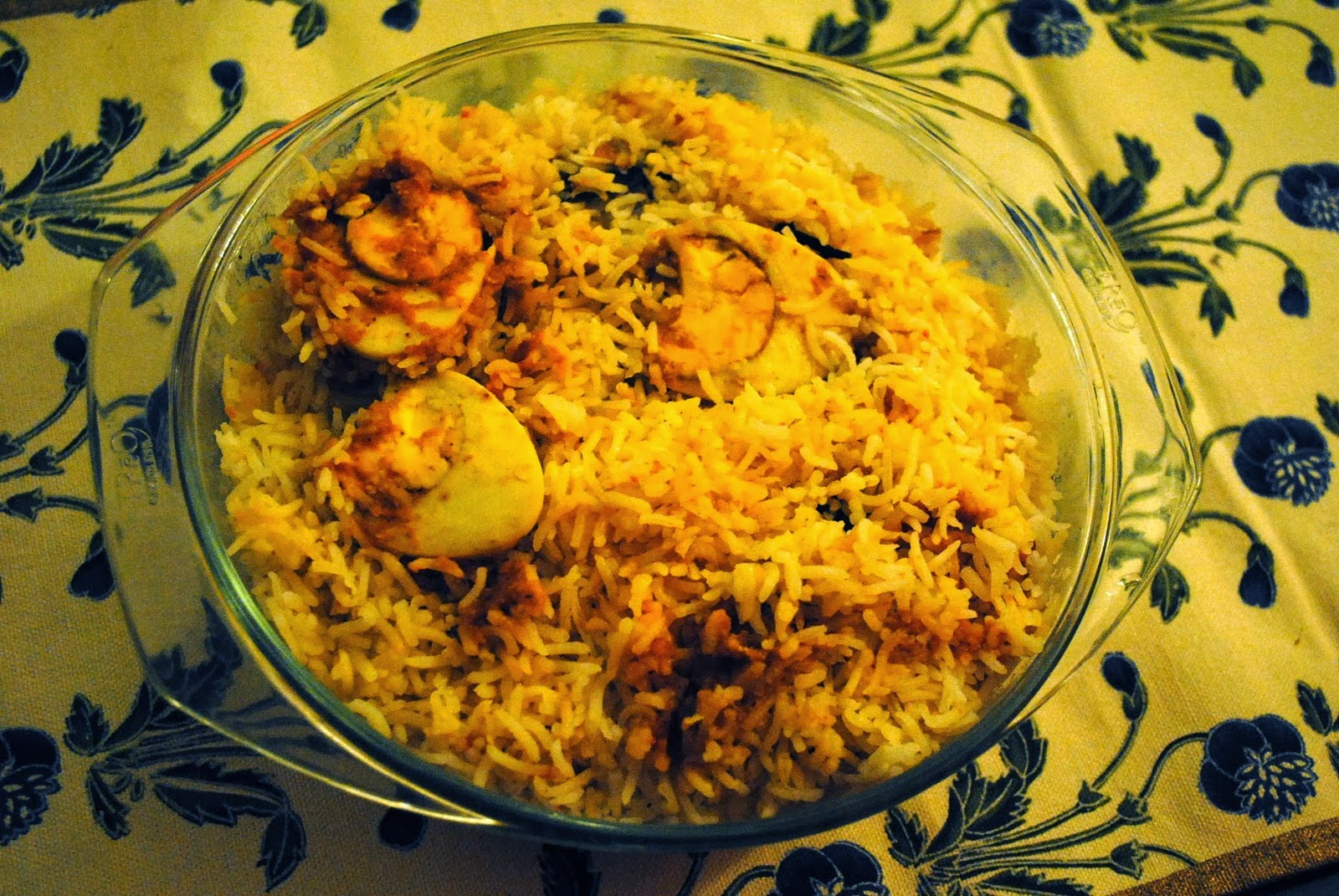Hot Hot Egg biryani