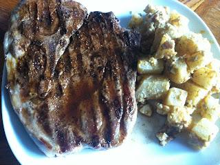 Grilled Seasoned Pork Steak