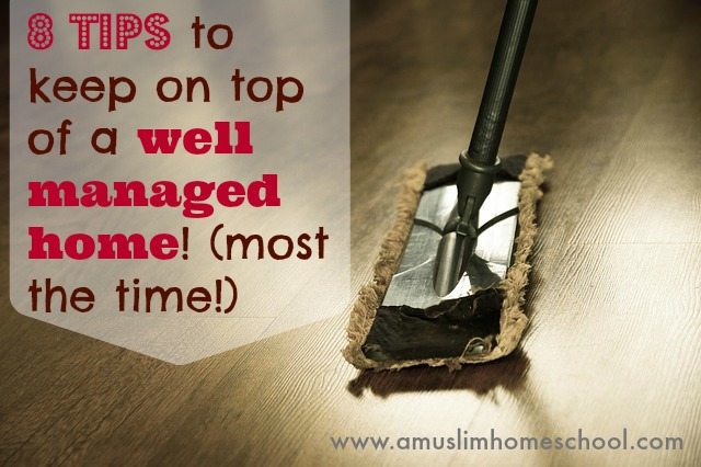 tips to keeping on top of home organisation