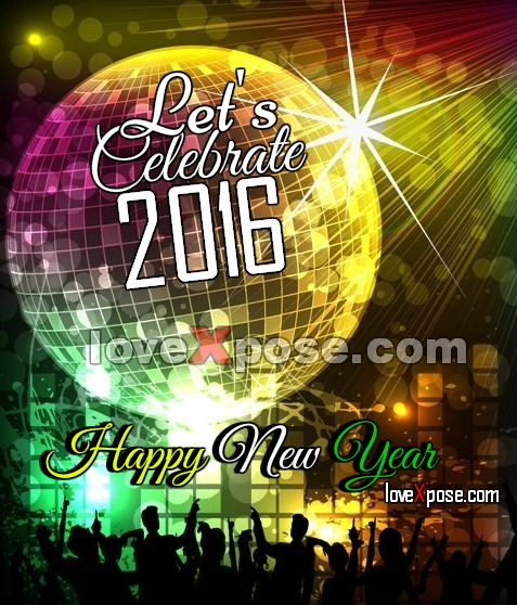 Happy New Year facebook greetings card