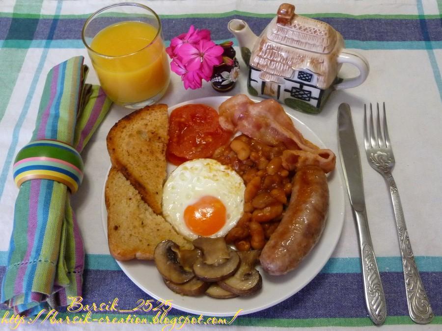 традиционный английский завтрак, рецепт завтрака