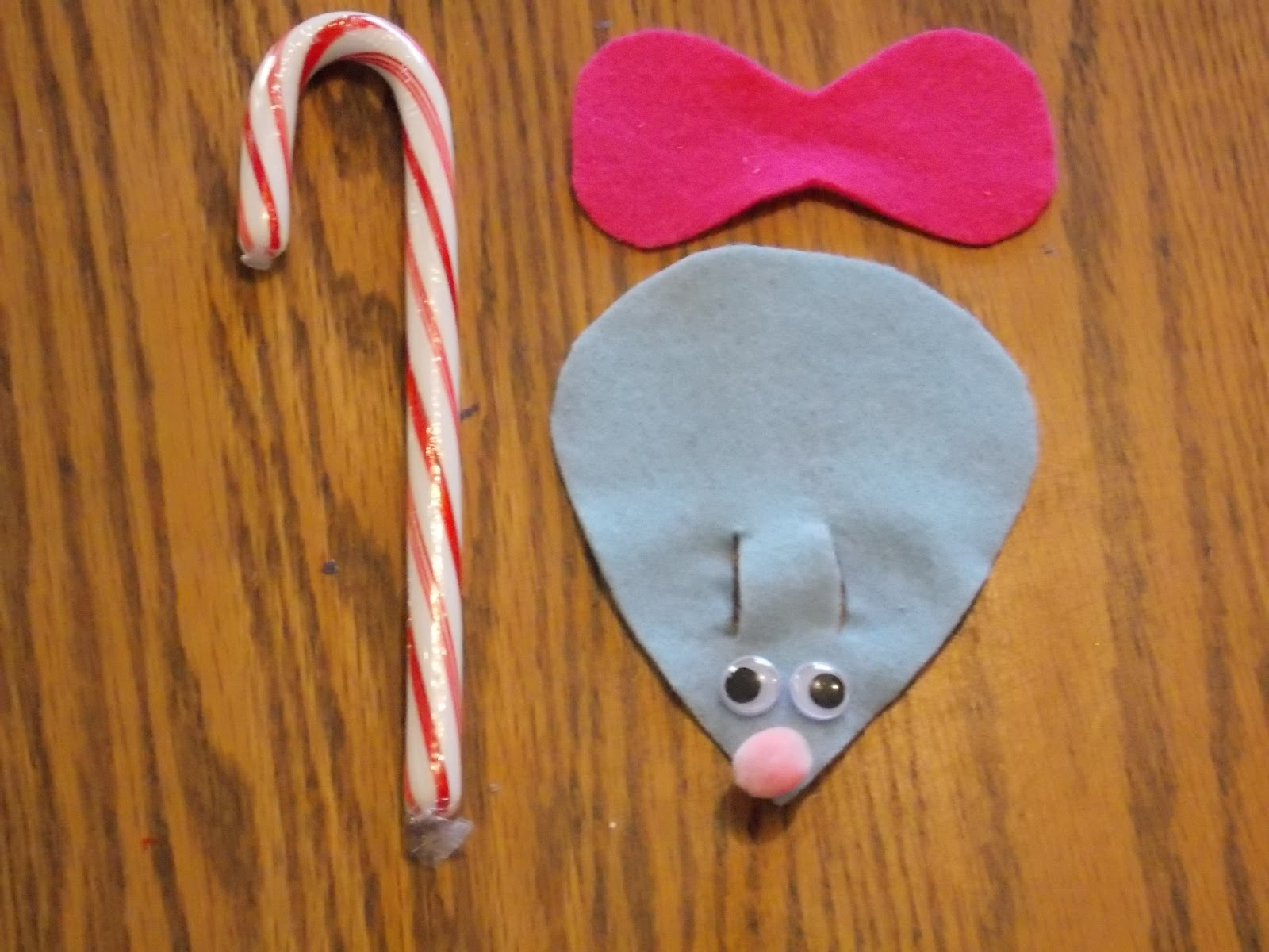 Keep calm and kerri on craft easy candy cane mice for Easy candy cane crafts