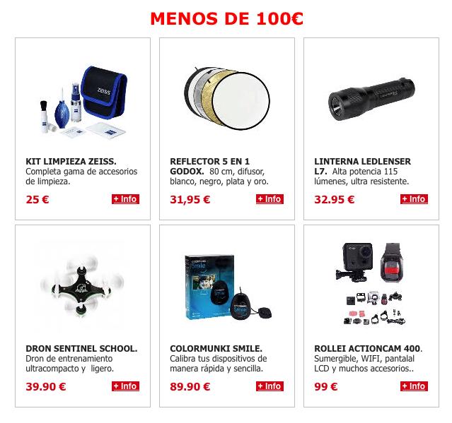 Regalos por menos de 100€