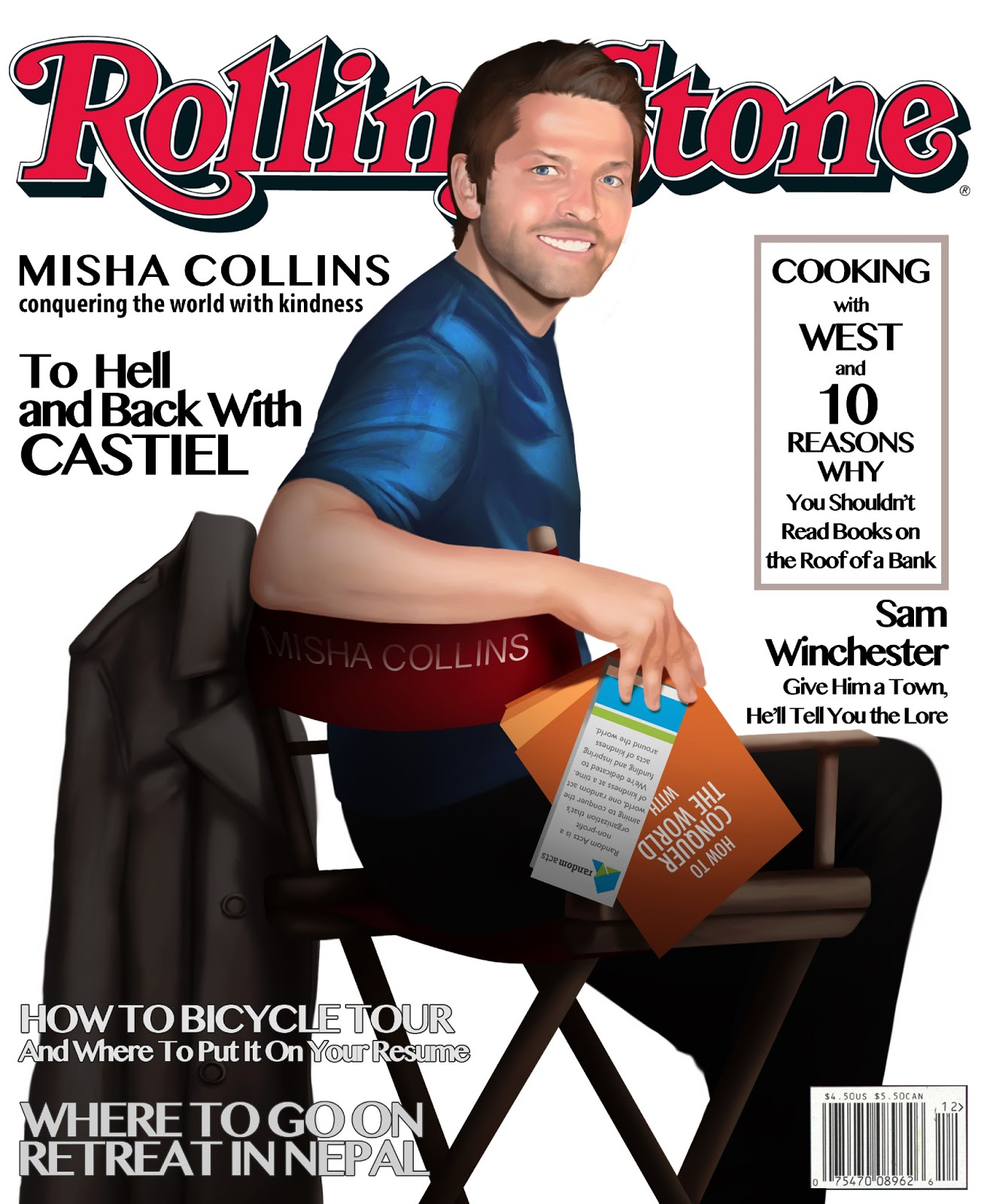 Taryn Cozzy Illustration Misha Collins Rollingstones Cover