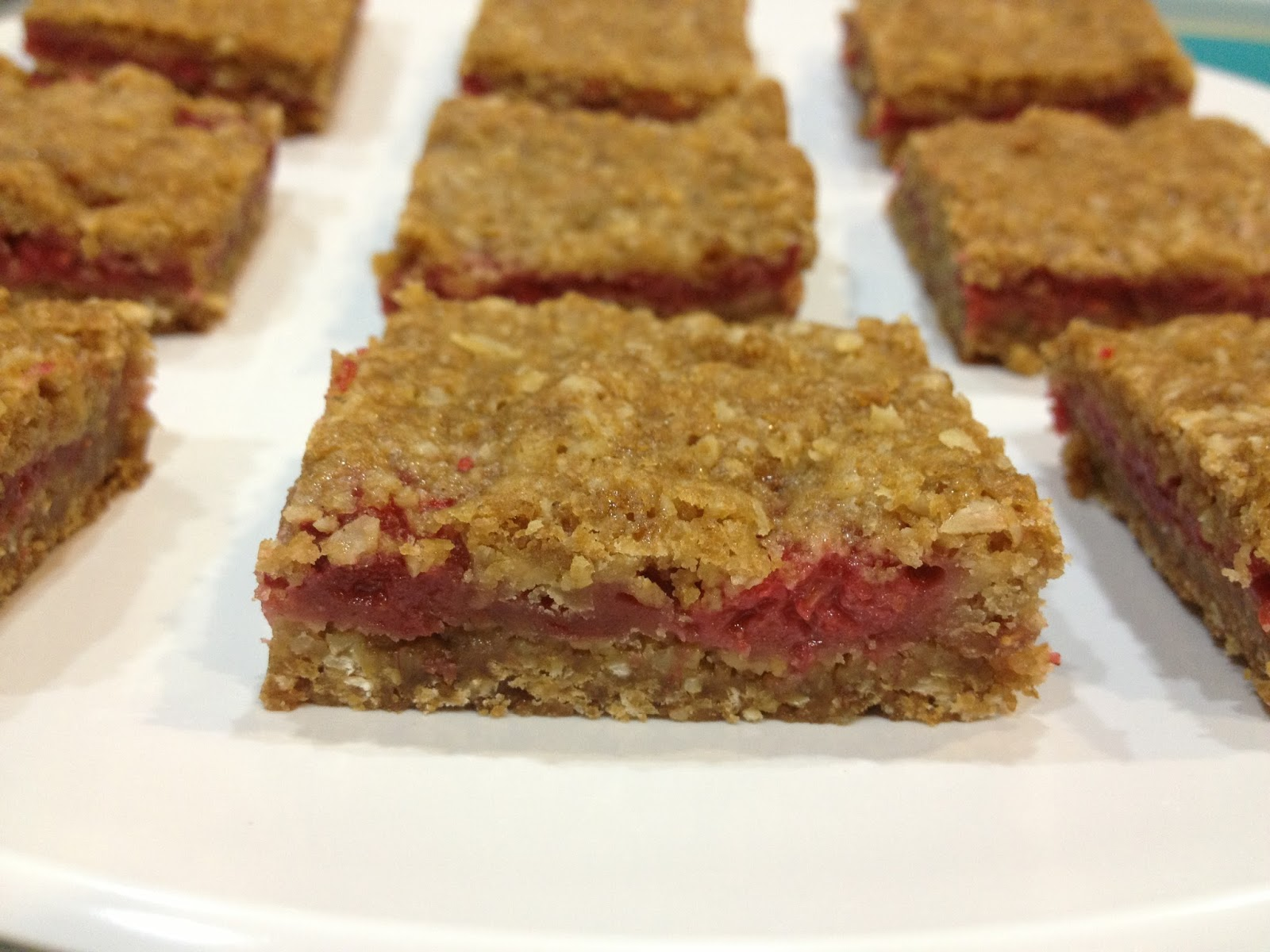 The Nerdy Chef: Raspberry Breakfast Bars