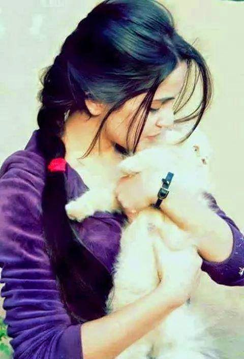 Girl dp with cute taddy