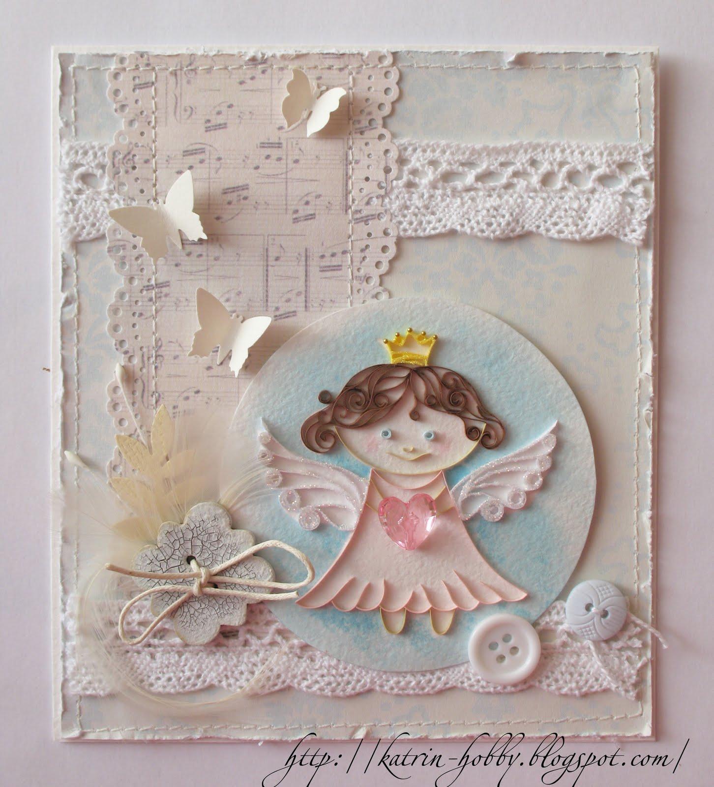 Открытки с ангелом в скрапбукинге