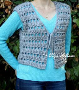 Women's Crochet Vest Pattern and Tutorial, $2.55
