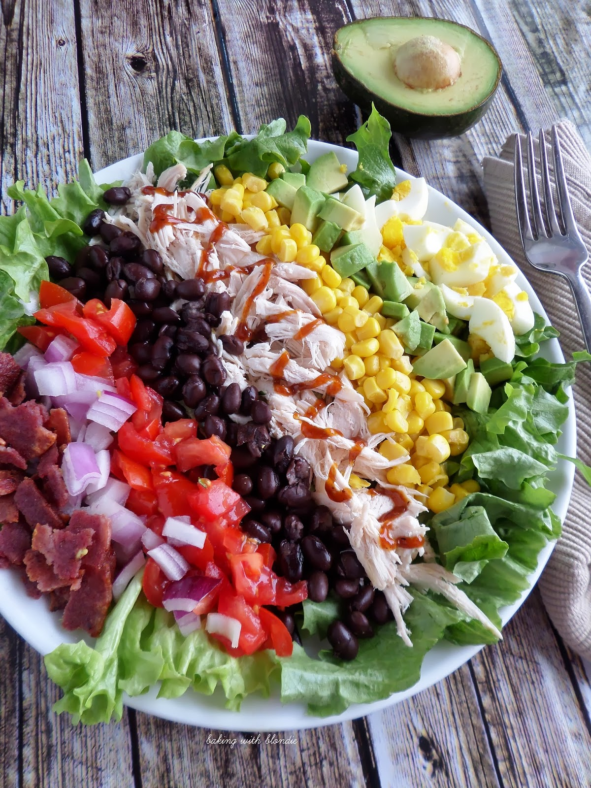 Baking with Blondie : BBQ Chicken Cobb Salad