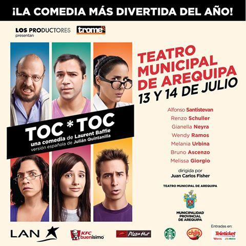 Toc * toc en Arequipa (13 y 14 julio)