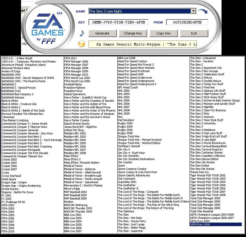 ea keygen fff download