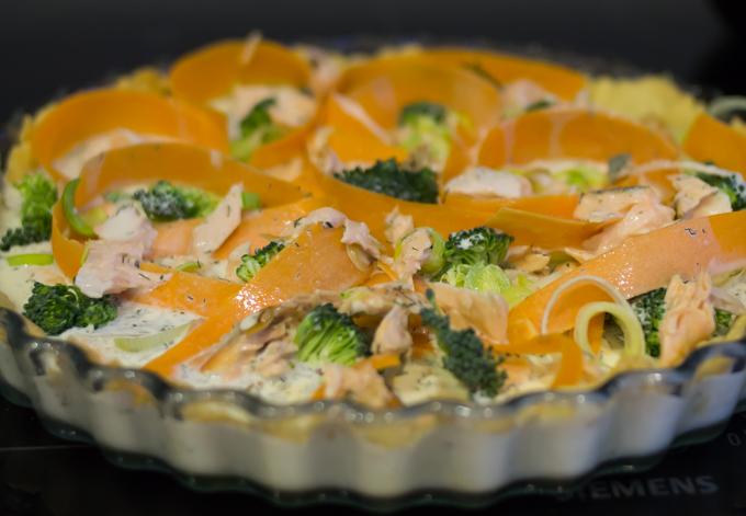 lohipiiras parsakaali, porkkana