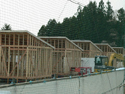 Construção das casas provisórias