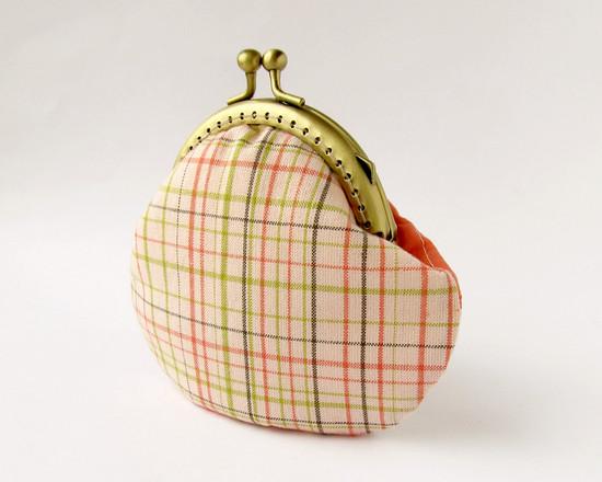kisslock frame purse, лоскутной кошелек