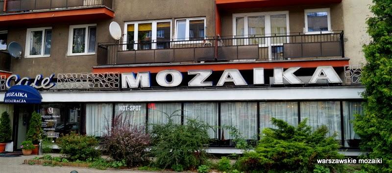 mozaika neon Warszawa Śródmieście Saska Kępa Mokotów warszawskie neony