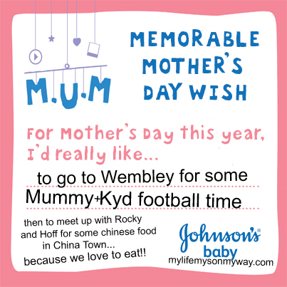 Johnson's Baby, Mothers Day, Memorable, Wish, Mum, Mummy, 2014,