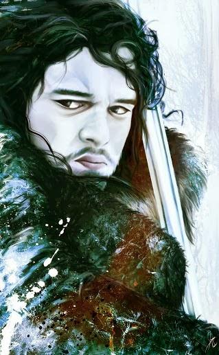 Jon Nieve retrato - Juego de Tronos en los siete reinos