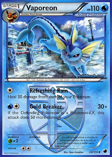Vaporeon Plasma Freeze Pokemon Card