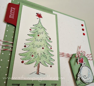Christmas Tree Image Snow Much Fun Stamp Set by Stampin' Up!