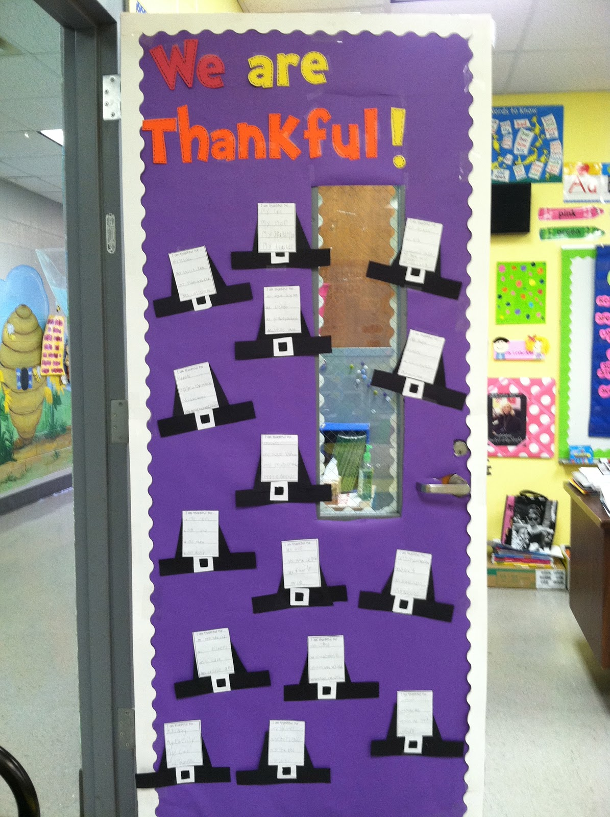 Classroom Door Ideas November ~ Thanksgiving activities first grade pinterest