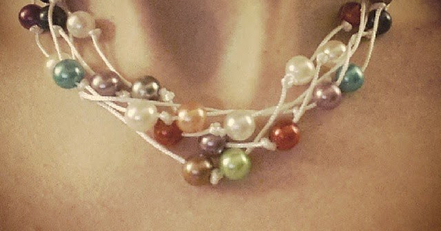 aujourd 39 hui j 39 ai un collier de perles home made facile tuto diy. Black Bedroom Furniture Sets. Home Design Ideas