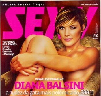 imagens Diana Balsini BBB11 Fotos Revista Sexy Junho 2011