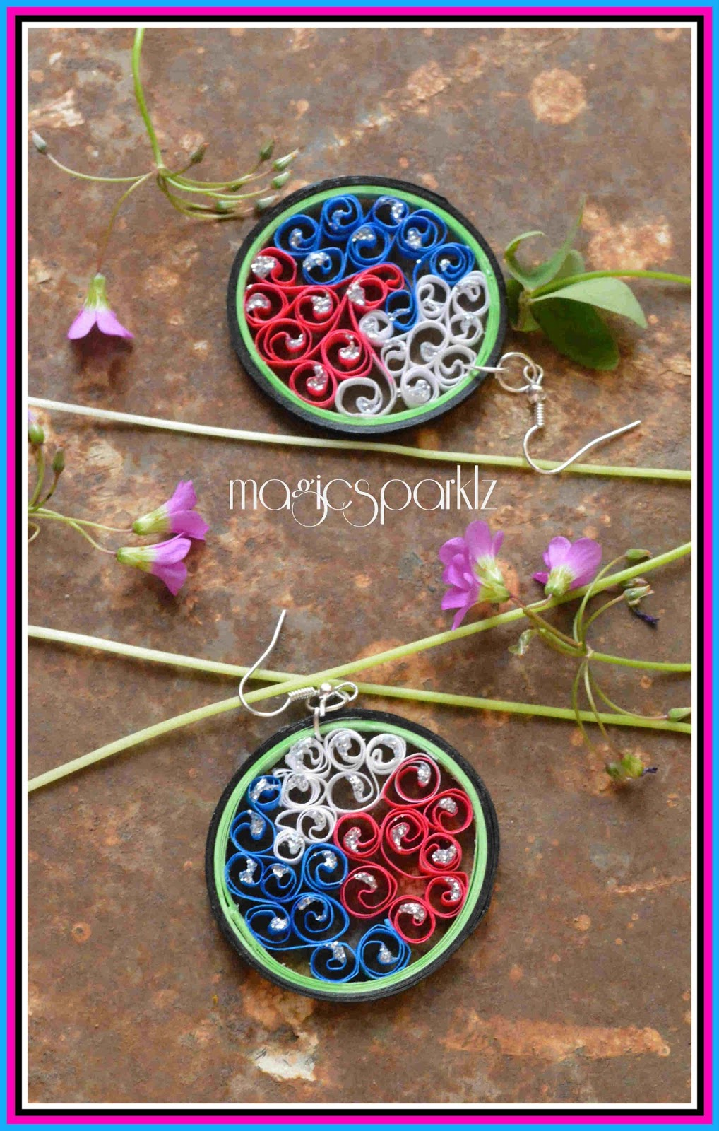 quilled beehive earrings